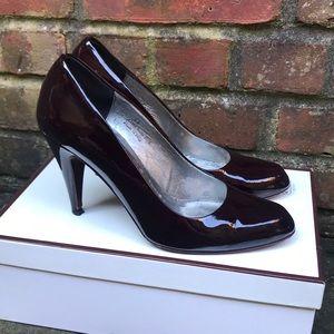 COACH Burgundy Patent Leather Heels *8